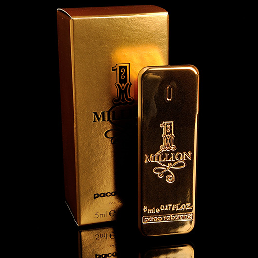 paco rabanne 1 mill n eau de toilette 5ml mini. Black Bedroom Furniture Sets. Home Design Ideas