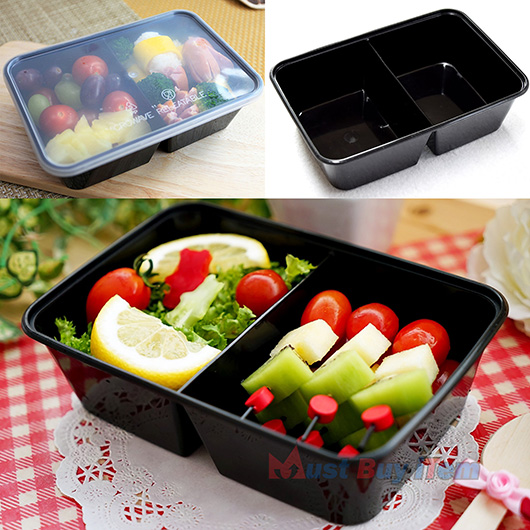 Food Plastic Storage Lunch Meal Prep Containers Box