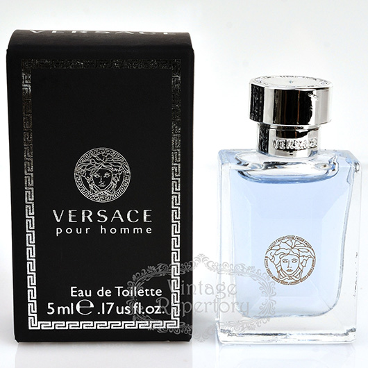 Versace Perfume Pour Homme Eau De Toilette Mini Mens Fragrance Miniature Parfum Small Bottle Sample Collection